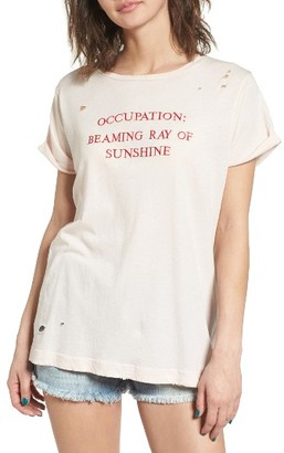 Women's Wildfox Part Time Destructed Tee $72 thestylecure.com