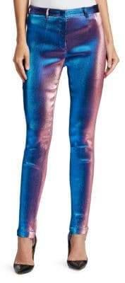Roberto Cavalli Straight-Leg Lurex Shimmer Pants