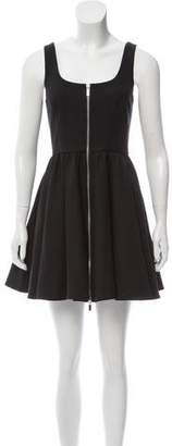 Elizabeth and James A-Line Loose-Pleat Dress