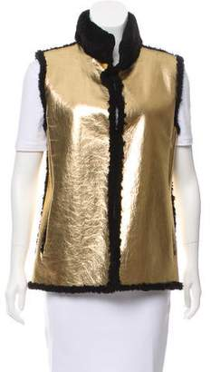 Reich Furs Metallic Shearling Vest