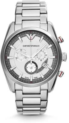 Emporio Armani Men's Steel Bracelet & Case Quartz Chronograph Watch AR6036