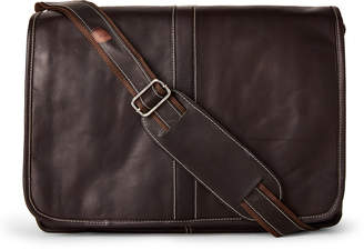 Latico Leathers Brown Leather Acadia Messenger Bag