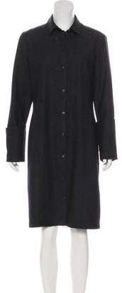The Row Collared Virgin Wool Shirtdress