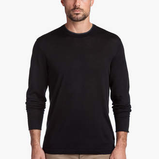 James Perse COTTON DOUBLE NECKBAND SWEATER