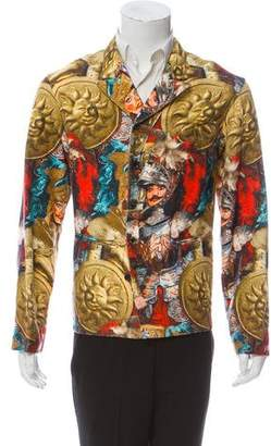 Dolce & Gabbana Knight's Fights Button-Up Jacket