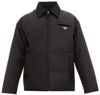 10d2b7ee6 Prada Padded Logo Plaque Nylon Coat - Mens - Black