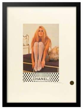 BRIGITTE Luxe West Silver Stockings Bardot Chanel Ad Print