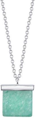BRIDGE JEWELRY Bridge Jewelry Womens Green Silver Over Brass Pendant Necklace
