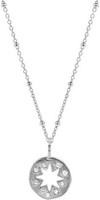 Yvonne Henderson Jewellery Cutout Star Necklace With White Sapphires - Silver