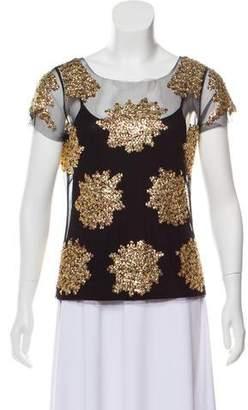 Gryphon Embellished Short Sleeve Top
