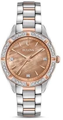 Bulova The Sutton Two-Tone Watch, 32.5mm