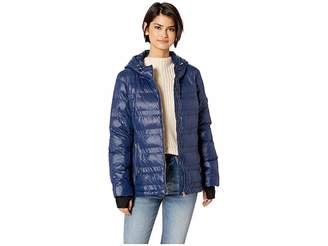 Jessica Simpson Horizontal Puffer w/ Zip-Up High Neck Women's Coat