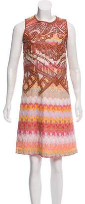 Missoni Leather-Accented Sleeveless Dress w/ Tags