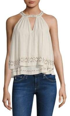 Ramy Brook Connie Layered Studded Sleeveless Top