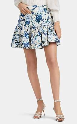 Zimmermann Women's Moncur Floral Linen Miniskirt