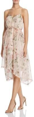 Aqua Tiered Floral Halter Dress - 100% Exclusive