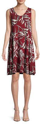 Style&Co. STYLE & CO. Printed V-Neck A-Line Dress