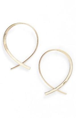 Women's Lana Jewelry Small Frontal Upside Down Hoop Earrings $415 thestylecure.com