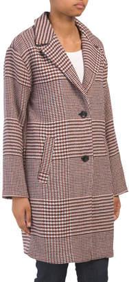 Wool Blend Menswear Plaid Coat