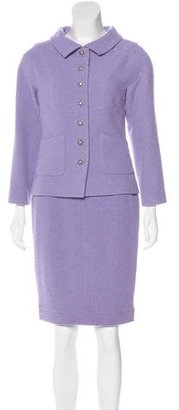 Chanel Wool Tweed Skirt Suit $1,595 thestylecure.com