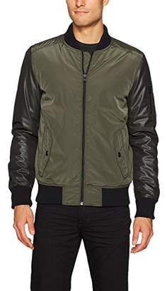X-Ray Men's Slim Fit Nylon Jacket with Mesh Sleeves