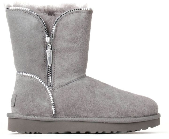 UGGUgg Woman Boots Grey With Zippers