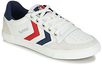 Hummel SLIMMER STADIL LOW LEATHER women's Shoes (Trainers) in White