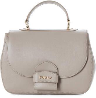 Furla Sabbia Coral Saffiano Leather Small Top Handle Bag