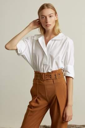 Genuine People Crop Dolman Sleeve Long Oversized Cotton Shirt