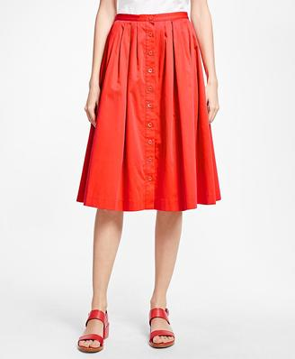 Flared Cotton Sateen Skirt $228 thestylecure.com