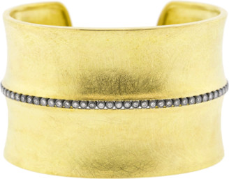 Todd Reed Diamond Line Wide Gold Cuff
