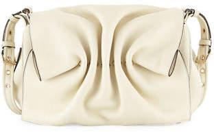 Valentino Bloomy Gathered Leather Shoulder Bag