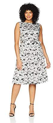 Anne Klein Women's Size Plus Cotton FIT & Flare Dress