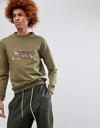 MHI Tiger Embroidered Crew Neck Sweatshirt