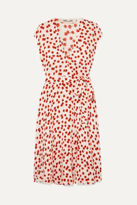 Diane von Furstenberg Goldie Floral-print Crepe Wrap Dress