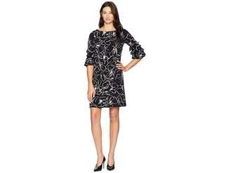 Gabby Skye Ruffle Sleeve Dress
