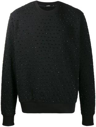 Amen crystal detail sweatshirt