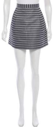 BCBGMAXAZRIA Jacquard A-Line Skirt