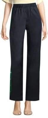Tibi Pull-On Side-Snap Pants