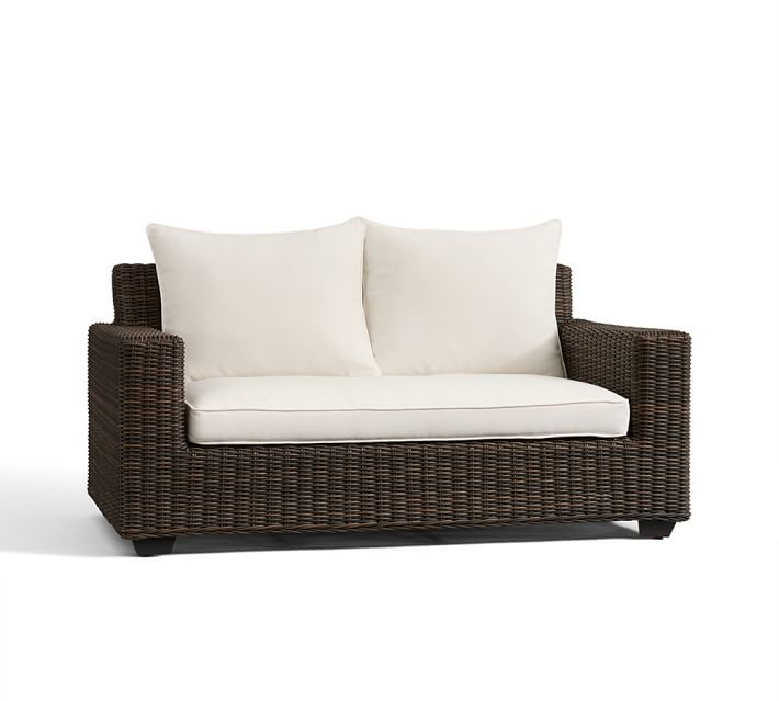 """Replacement Square-Arm 62"""" Loveseat Sofa Cushion"""