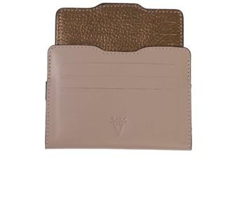 Atelier Hiva Double Card Holder Sand & Metallic Brown