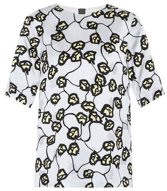 Marni Floral-printed satin tops