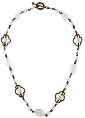 Stephen Dweck Pearl & Quartz Beaded Necklace
