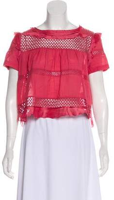 Isabel Marant Embroidered Ruffled Top