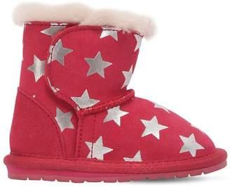 Emu Stars Printed Suede & Merino Wool Boots