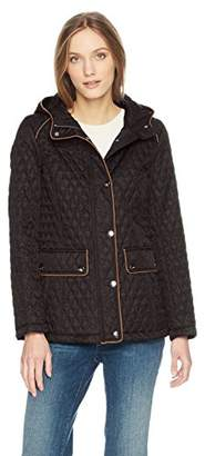 Tommy Hilfiger Women's Hooded Diamond Quilted Jacket