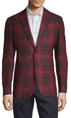 Valentino Tartan Plaid Wool Jacket