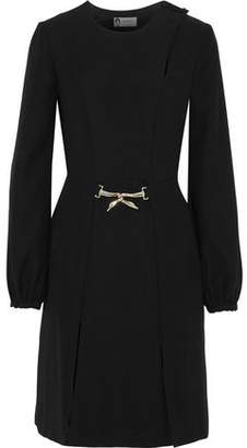 Lanvin Embellished Split-Front Crepe Dress