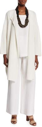 eskandar Open-Front Cashmere/Silk Cardigan with Paillettes