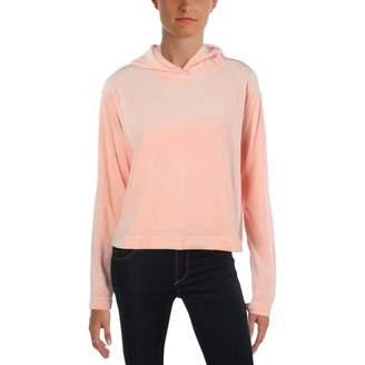Juicy Couture Black Label Womens Velour Hooded Sweatshirt Pink M